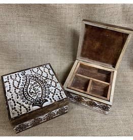 Matr Boomie Antique Finish Paisley Jewelry Box