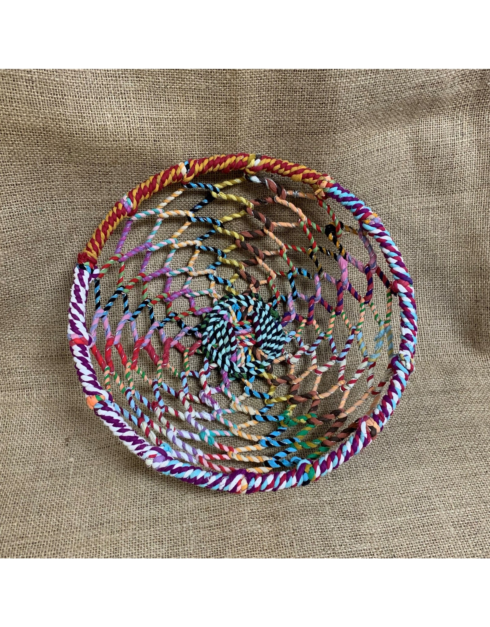 Ten Thousand Villages Basket Multicolour Woven Thread/Wire Small