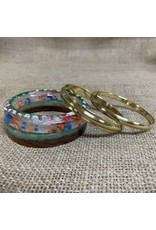 Ten Thousand Villages Multicolour Bangle set of 5, India