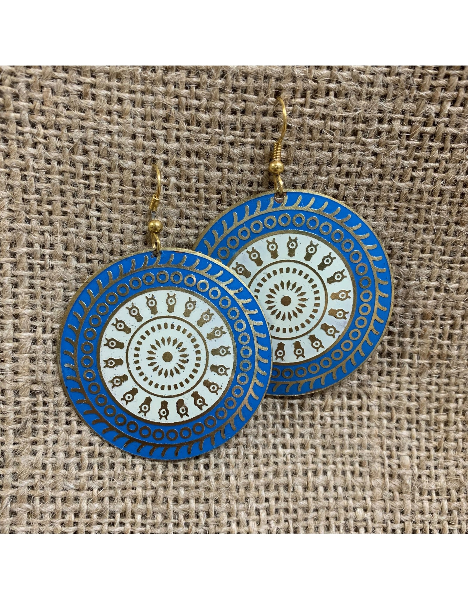 Ten Thousand Villages Double Circle Drop Earrings