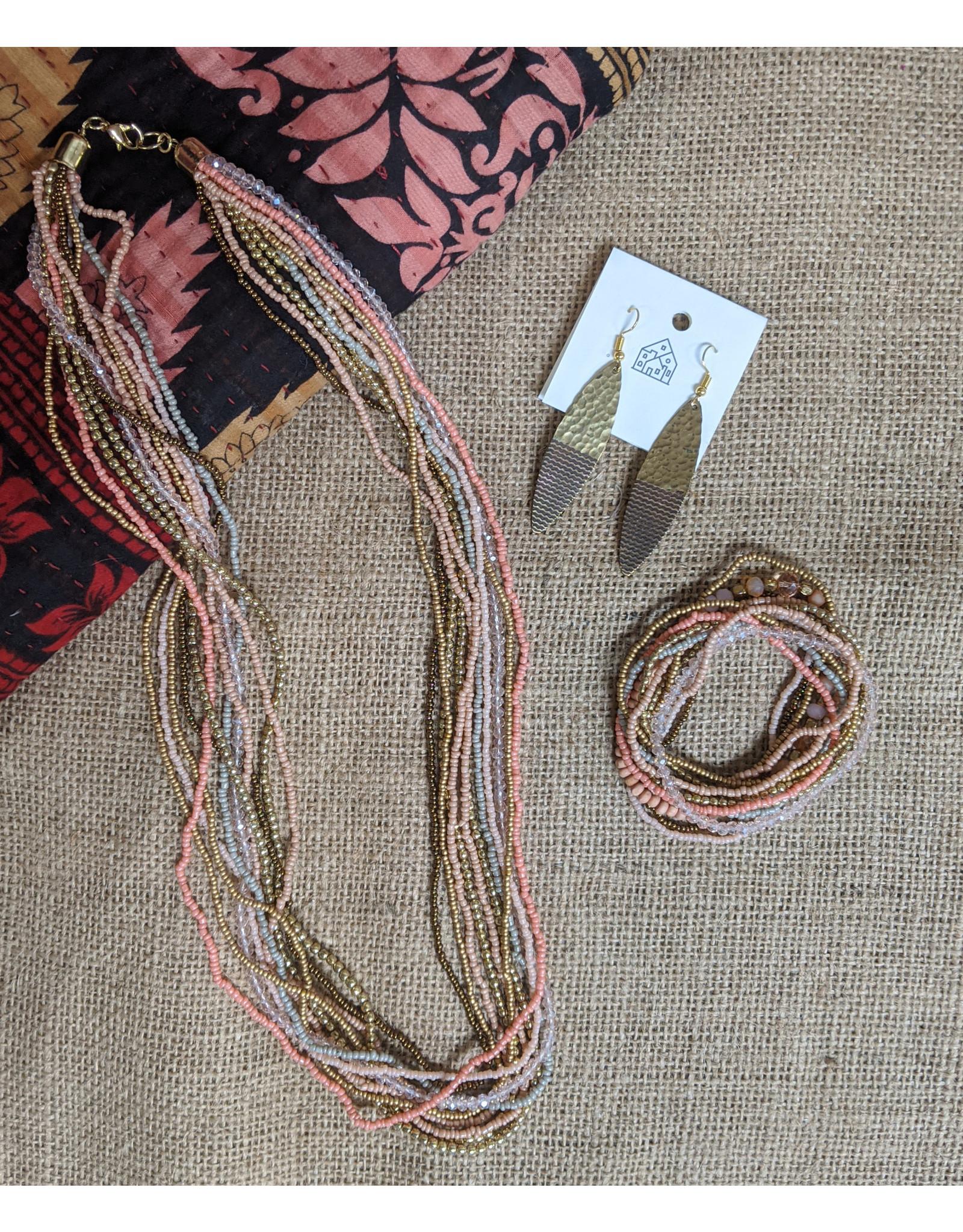 Ten Thousand Villages Pastel Bracelet Set