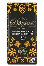 Divine Divine Dark Chocolate with Ginger and Orange