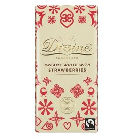 Divine Divine White Chocolate with Strawberries