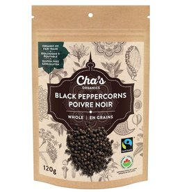 Cha's Organics Cha's Whole Black Peppercorns (120g)