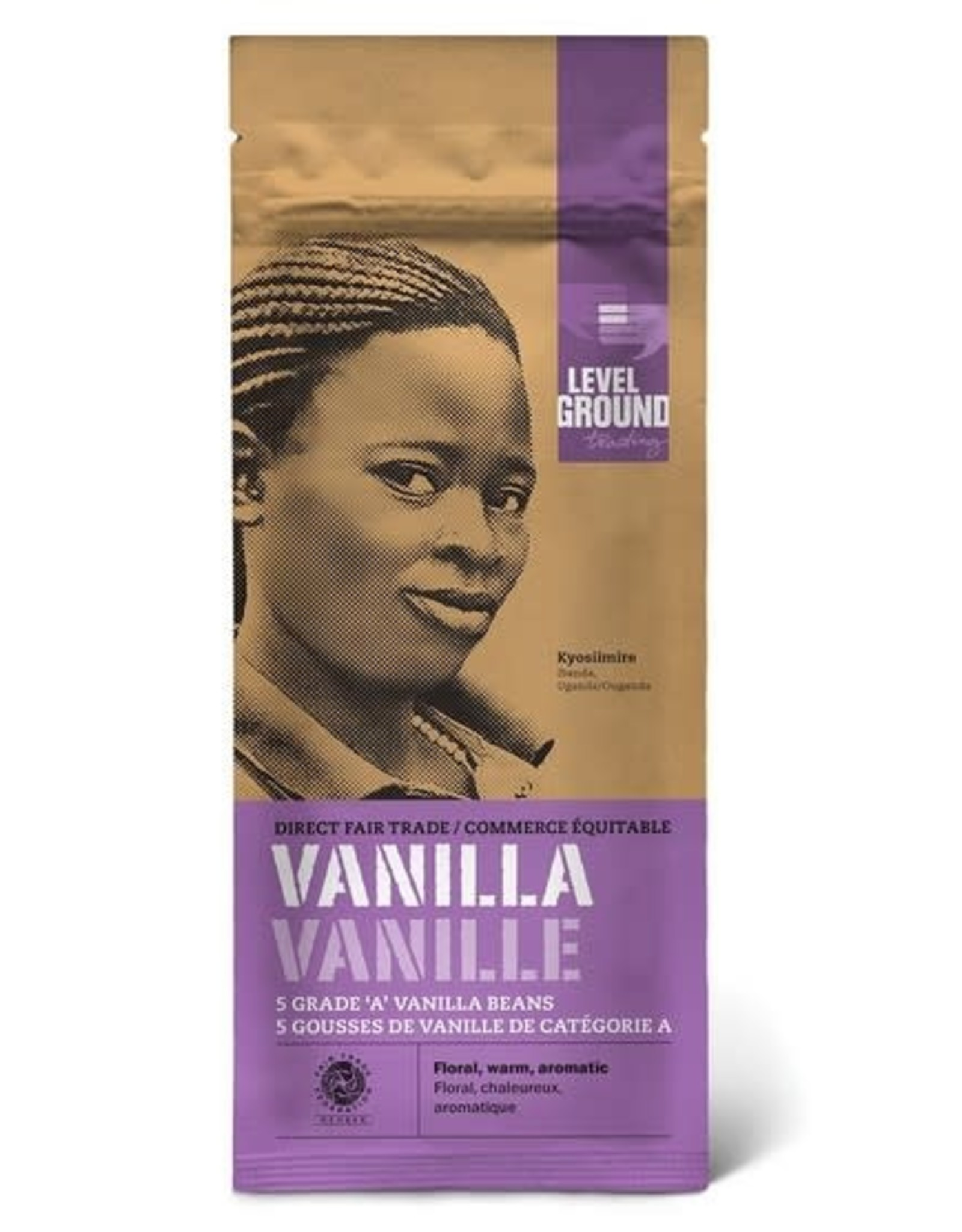 Level Ground Trading Vanilla Beans Package 5 Whole Beans