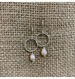 Ten Thousand Villages Sterling Silver Pink Pearl Earrings