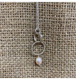 Ten Thousand Villages Sterling Silver Pink Pearl Necklace
