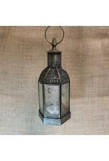 Ten Thousand Villages Lantern Hexagon Hinged Iron/glass