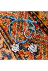 Ten Thousand Villages Matching Bracelet and Dog Tag Set