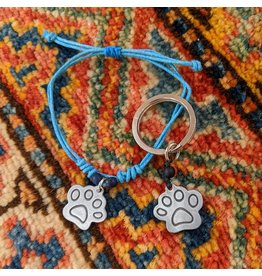 Ten Thousand Villages Matching Bracelet and Dog Tag Set
