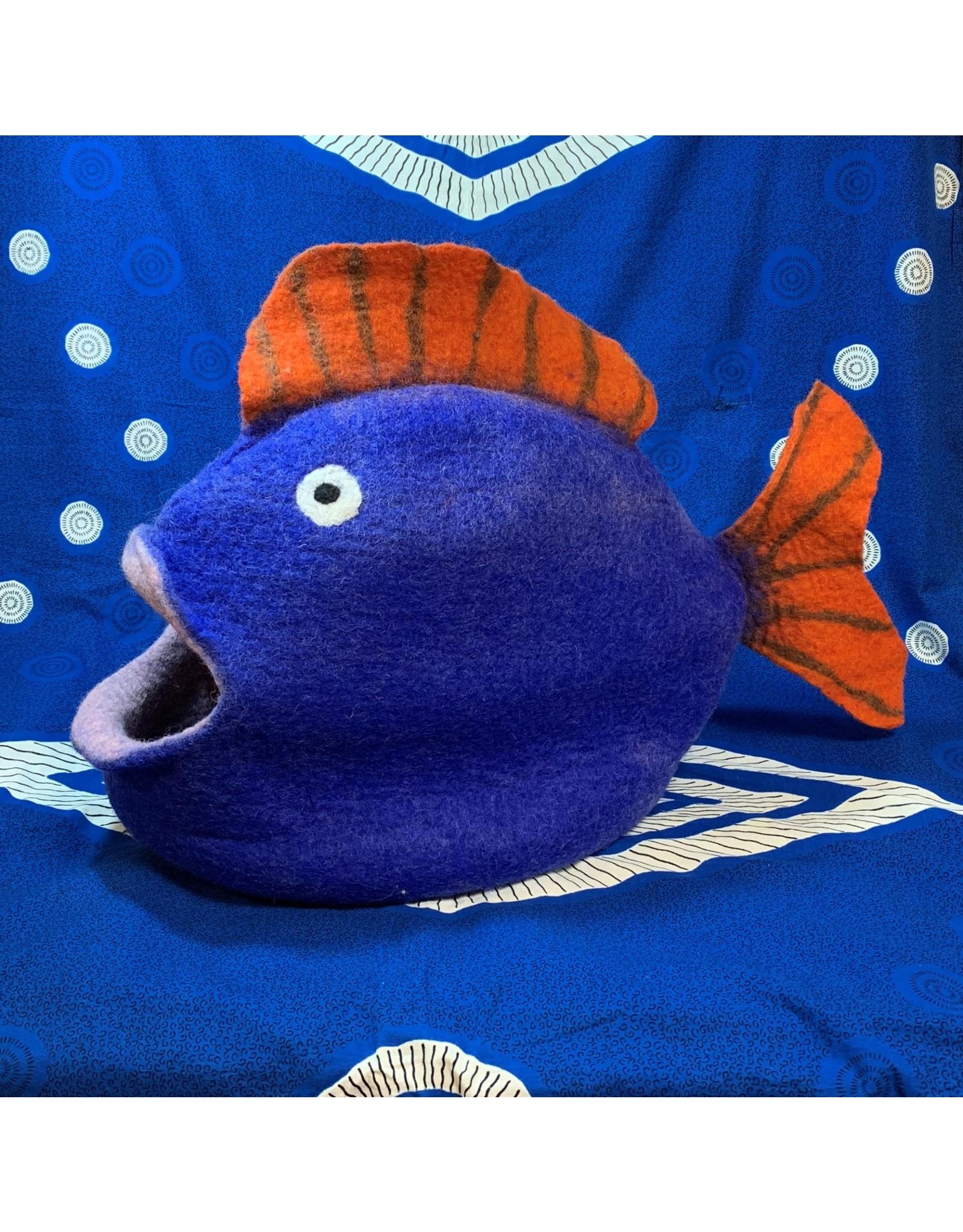 Hamro Village Blue Fish Cat Cave
