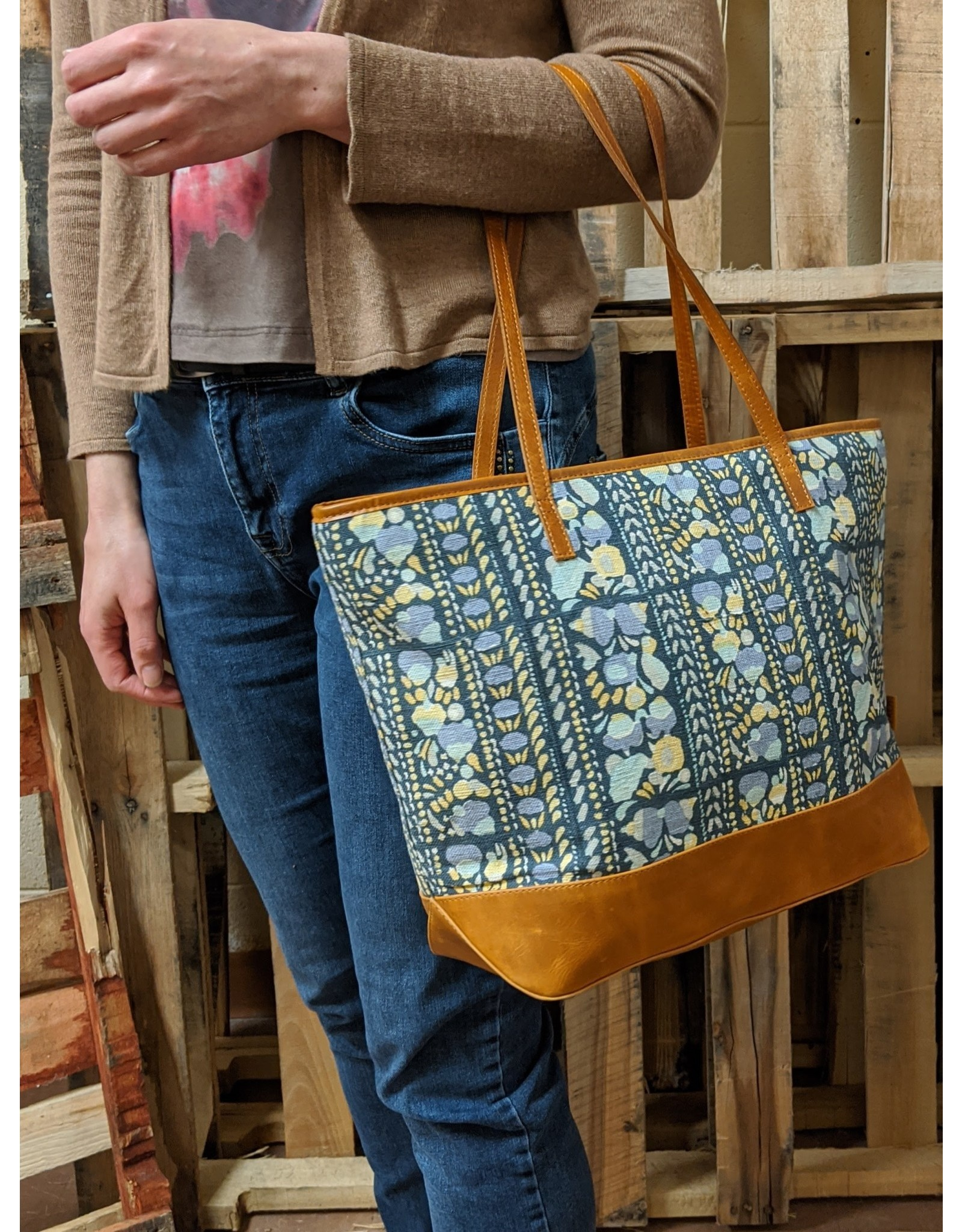 Agaja Indigo Panel Tote Bag