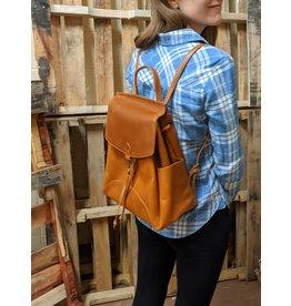 Himani Camel Leather Backpack