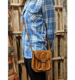 Myra Mini Camel Leather Satchel