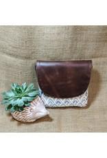 Navya Signature Print Leather Cotton Crossbody