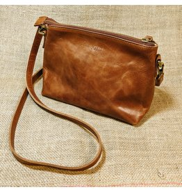 Classic Crossbody, Brown Leather