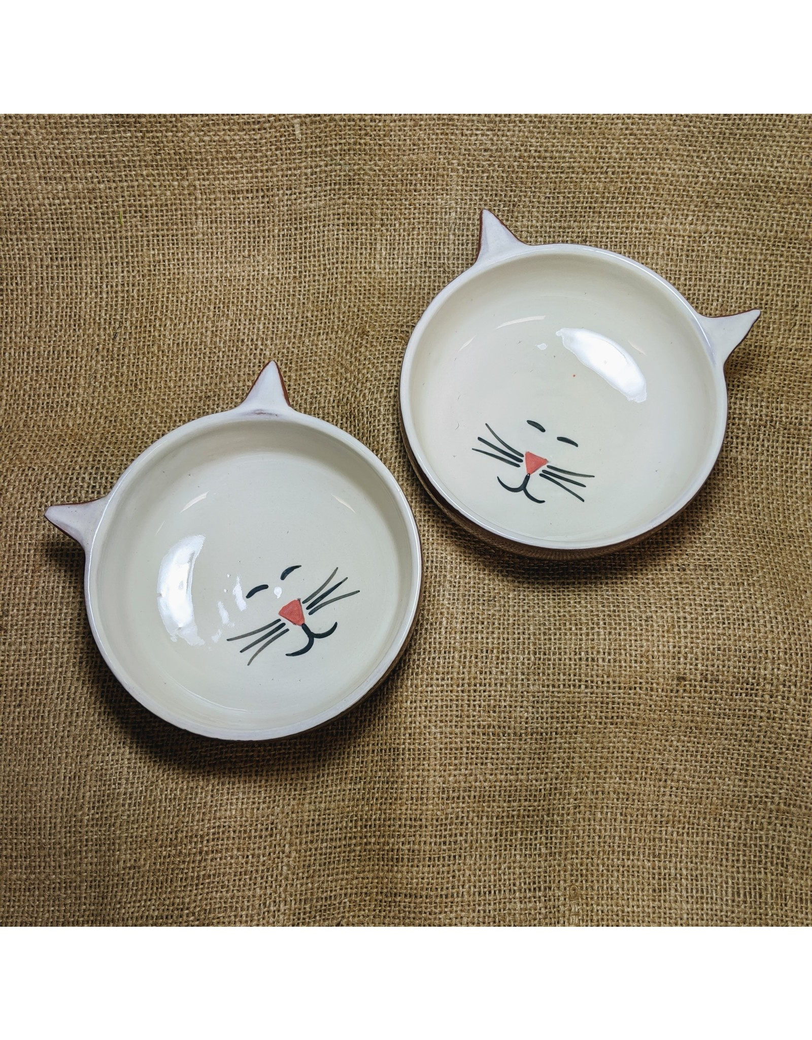 Ten Thousand Villages Ceramic Cat Food Dish
