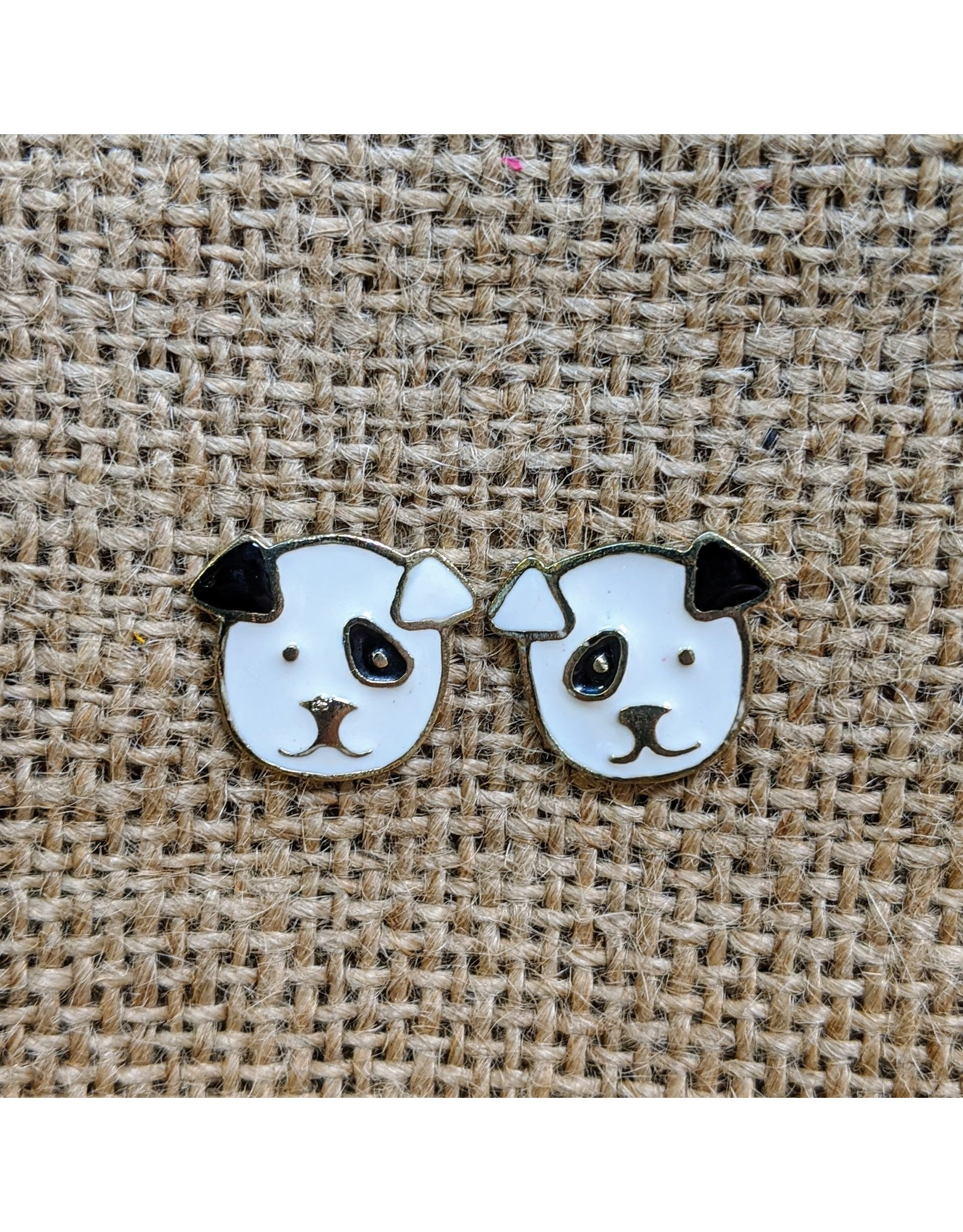 Sit Stay Puppy Stud Earrings