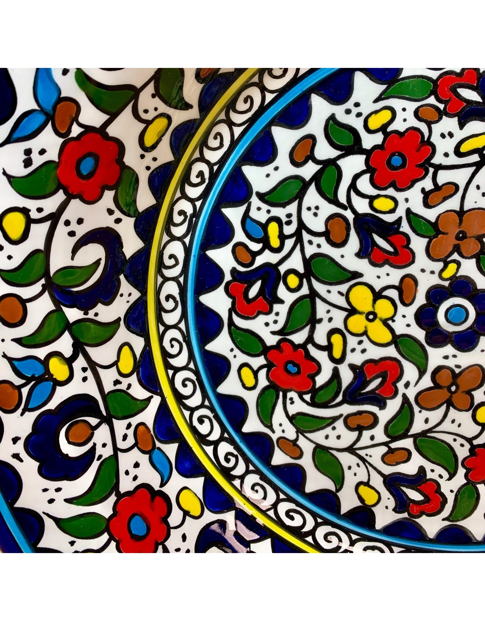 Ten Thousand Villages Wild Flowers Ceramic Platter