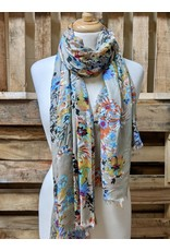 Ten Thousand Villages Bright floral print scarf
