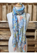 Ten Thousand Villages Multicolor Paisley Scarf