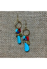 Ten Thousand Villages Three Charm Earrings, India