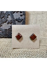 Ten Thousand Villages Rosewood Stud Earrings, India