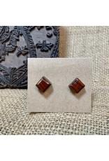 Ten Thousand Villages Rosewood Stud Earrings