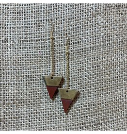 Earrings Trailing Triangle, India