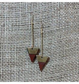 Earrings Trailing Triangle