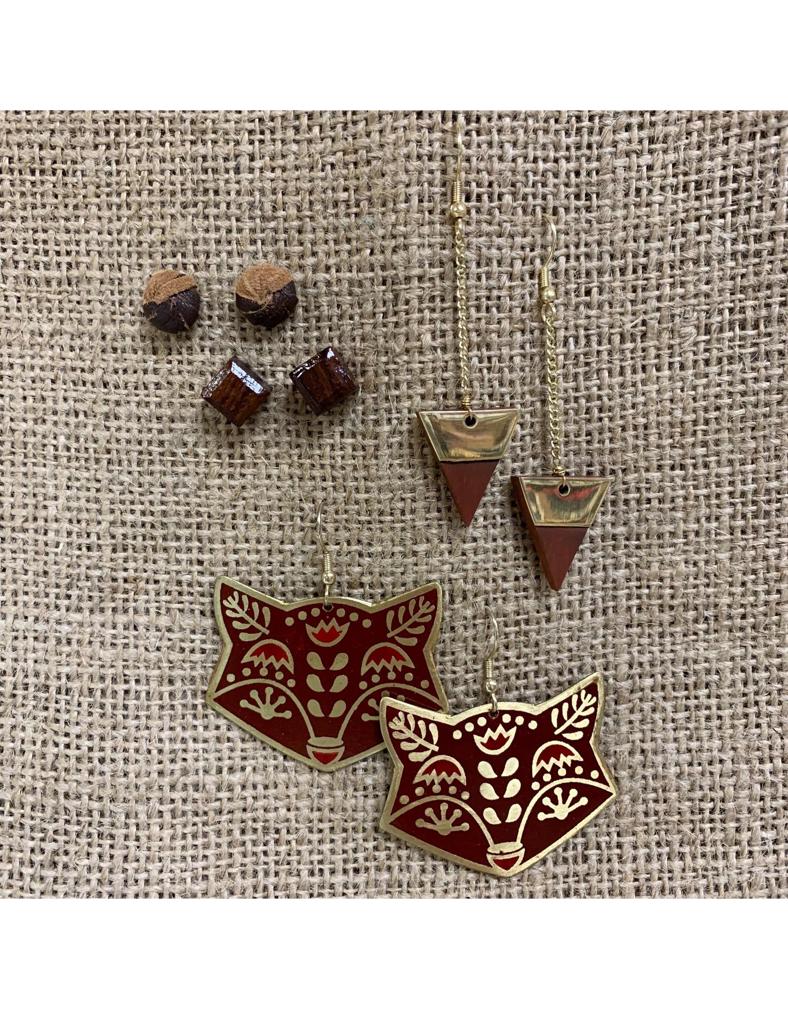 Earrings Trailing Triangle, India