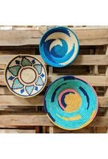 Ten Thousand Villages Floral Rafia Coiled Basket