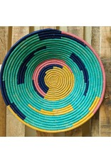 Ten Thousand Villages CLEARANCE Teal Rafia Coiled Basket, Uganda