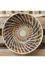 Ten Thousand Villages Copper Rafia Coiled Basket