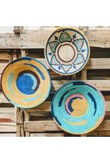 Ten Thousand Villages CLEARANCE Cobalt Rafia Coiled Basket, Uganda