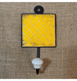 Ten Thousand Villages Yellow Medallion Wall Hook