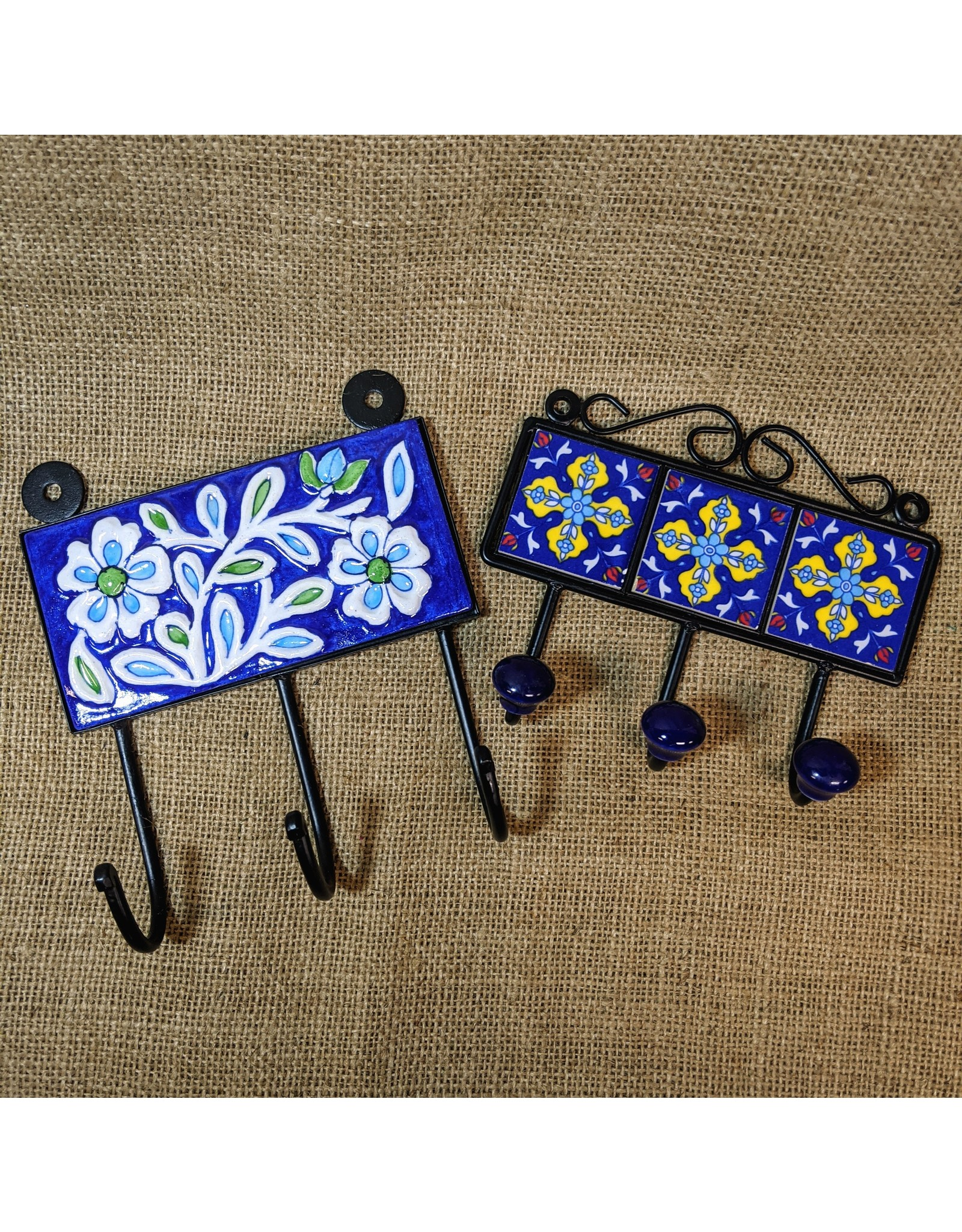 Ten Thousand Villages Ceramic Tile Wall Hooks
