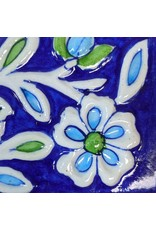 Ten Thousand Villages Blue & White Floral Wall Hook