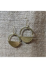 Ten Thousand Villages Half Moon Brass Earrings