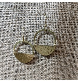 Ten Thousand Villages Half Moon Brass Earrings