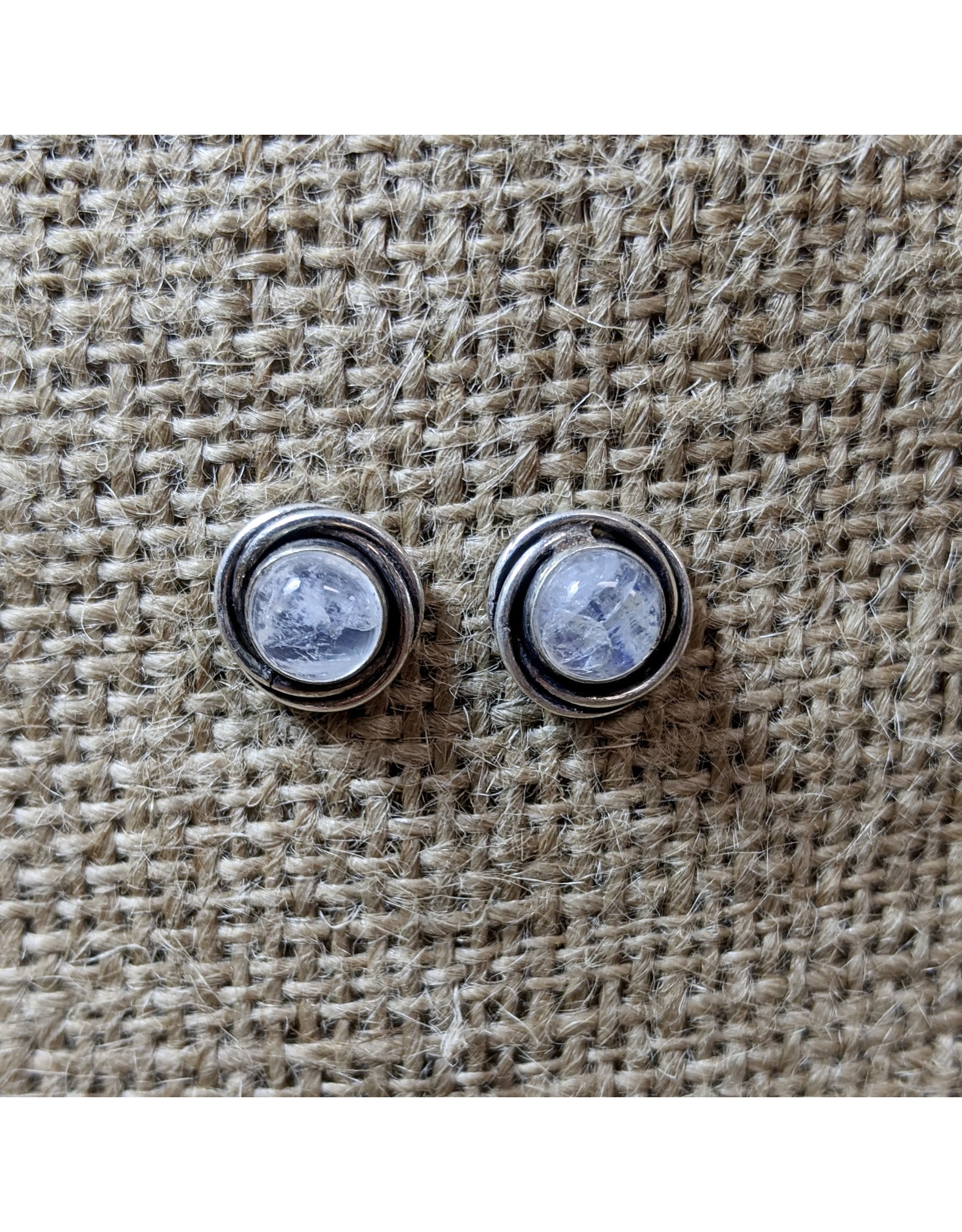Ten Thousand Villages Silver Moonstone Earrings