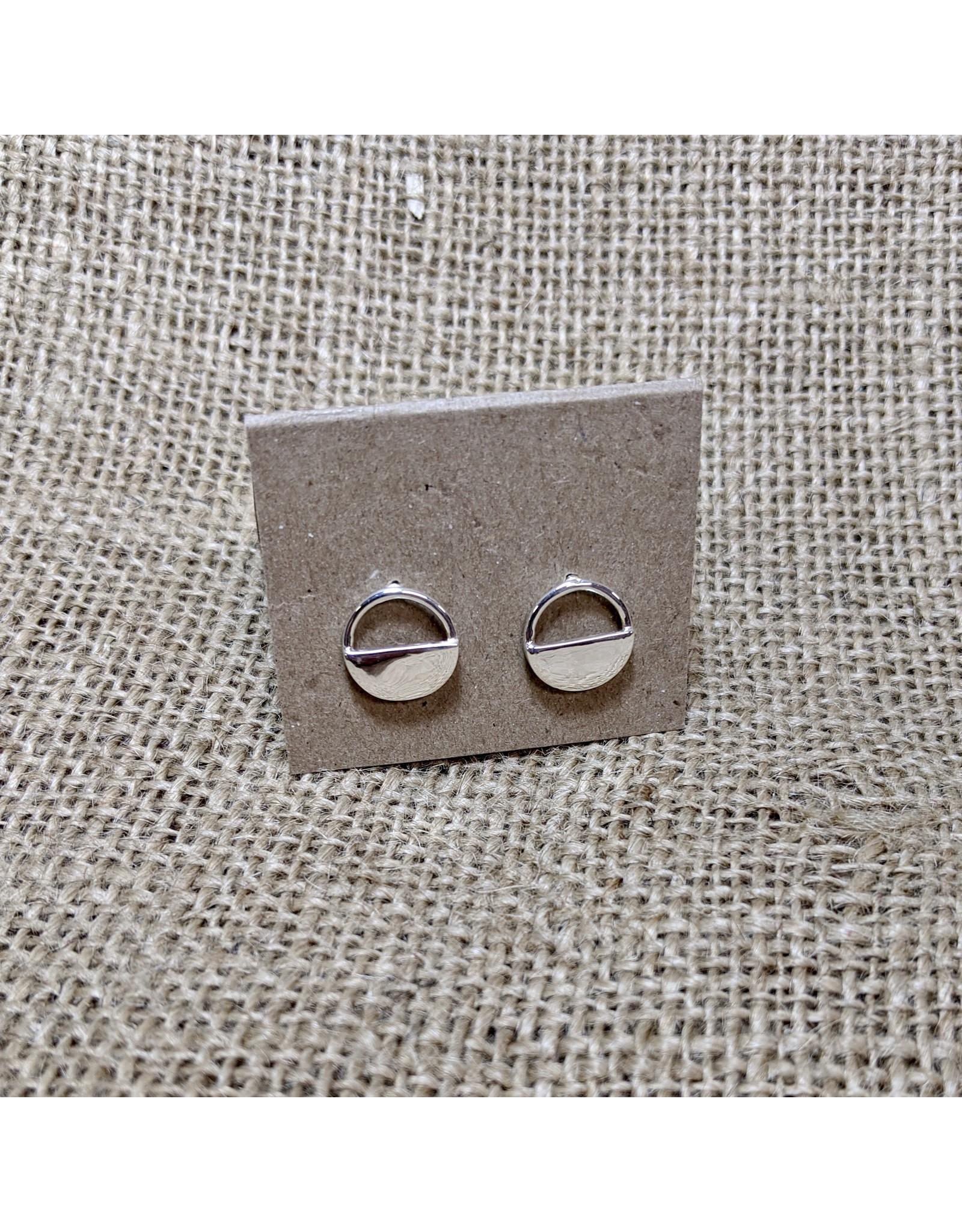 Ten Thousand Villages Half-moon Stud Earrings, India