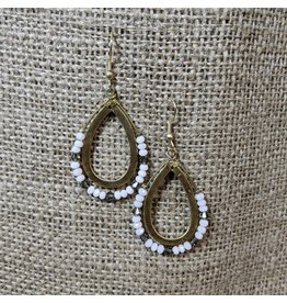 Ten Thousand Villages Fine Balance Teardrop Earrings