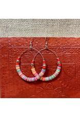 Ten Thousand Villages Multicolour sequin hoop earrings, India
