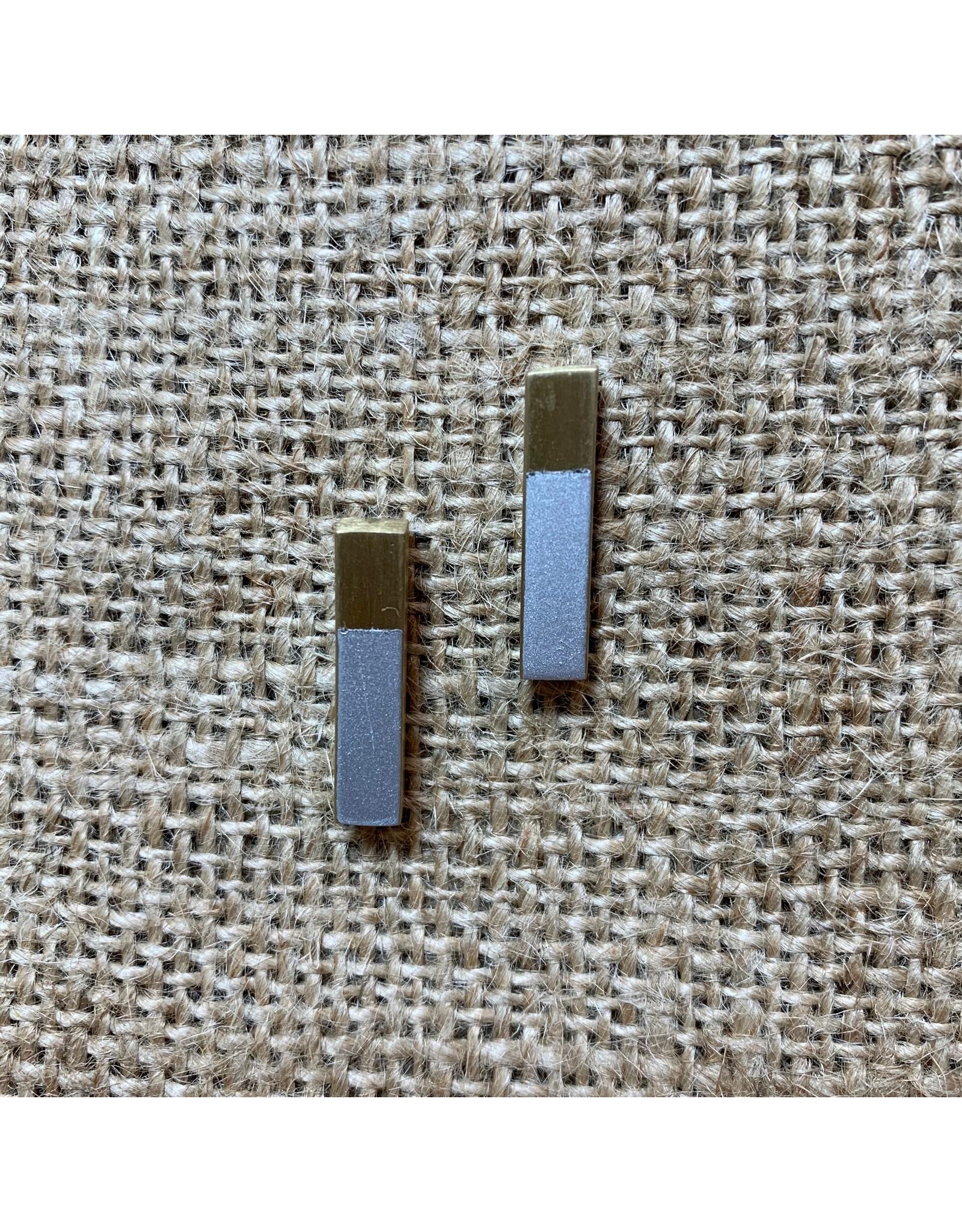 Earrings Two Tone Studs, India