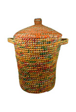 Ten Thousand Villages Sari Wrap Lidded Basket