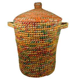 Ten Thousand Villages Sari Wrap Lidded Basket