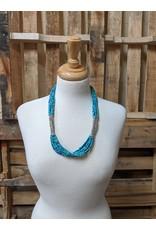 Ten Thousand Villages Blue Note Necklace