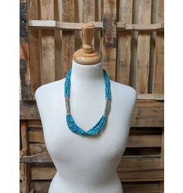 Ten Thousand Villages Blue Note Necklace