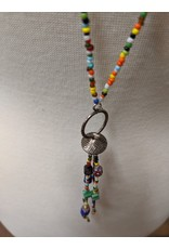 Ten Thousand Villages Brilliantly Beaded Tassel Necklace